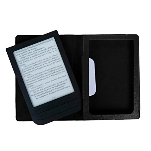 For 2016 PocketBook Touch HD 631 Ereader Accessories,Sunfei Magnetic Auto Sleep Leather Cover+HD Screen Protective Film+TOUCH PEN (Black)