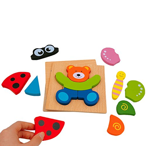 dreamseden wooden jigsaw puzzles for toddlers animal chunky puzzles