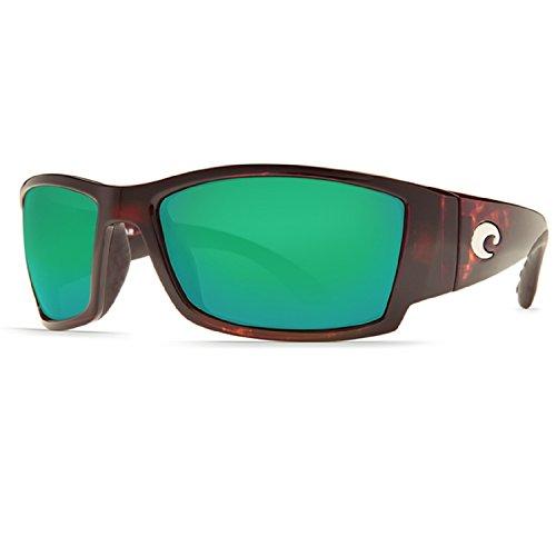 Costa Del Mar Corbina Sunglasses, Tortoise, Green Mirror 400G Lens ()