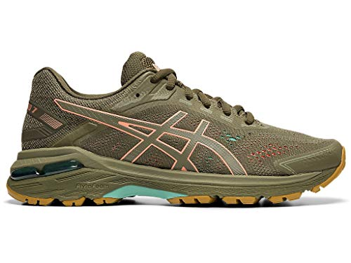 ASICS Women's GT-2000 7 Trail Running Shoes, 8.5M, Mantle Green/Olive Canvas