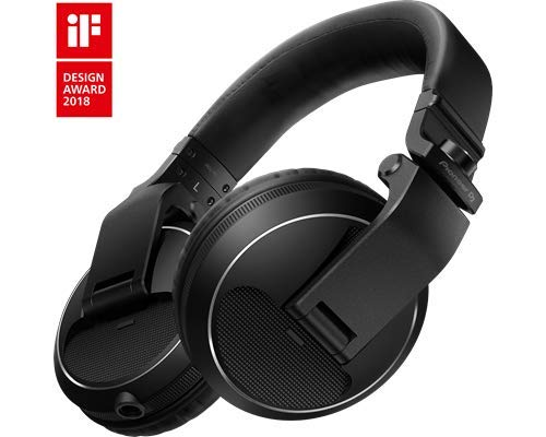 Pioneer DJ HDJ-X5-K Professional DJ Headphone, BLACK - Black Professional Dj Lighting