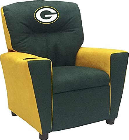 Imperial Officially Licensed NFL Furniture: Youth Fan Favorite Microfiber Recliner, Green Bay - Imperial International Green