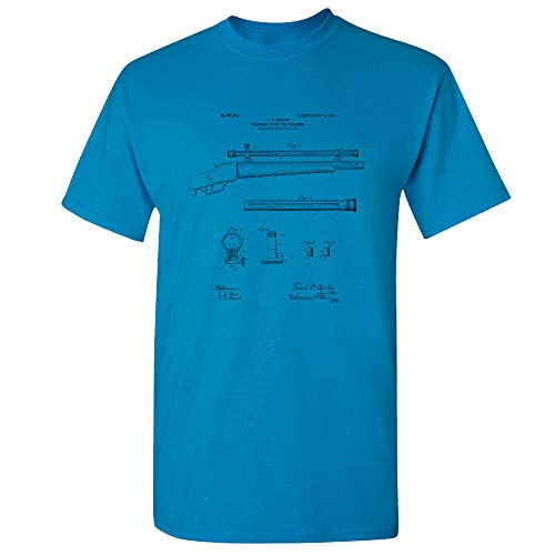 Rifle Scope T-Shirt, Hunter Shirt, Marksman Gift, Gun Enthusiast, Hunter Gift, Gun Club, Veteran Gift, Deer Hunting Sapphire (Small)
