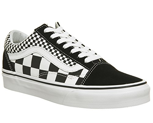 Galleon - Vans Unisex Old Skool Skate Shoes Checkers Black True White 12.5  B(M) US Women 11 D(M) US Men 5fc2d915a