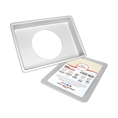 Fat Daddios Anodized Aluminum Sheet Cheesecake Pan with Removable Bottom, 9 Inch x 13 Inch x 2 Inch