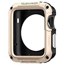 Apple Watch Series 2 Case 42mm, Spigen Tough Armor - Extreme Heavy Duty Protection and Built In Screen Protector for Apple Watch Series 2 42mm (2016) - Champagne Gold