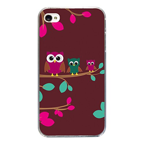 """Disagu Design Case Coque pour Apple iPhone 4 Housse etui coque pochette """"Drei Eulen"""""""
