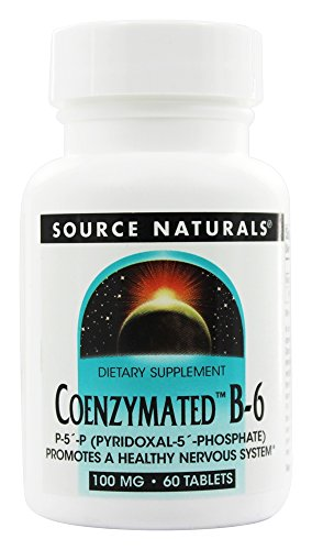 - Source Naturals - Coenzymated B-6 100 mg. - 60 Tablets