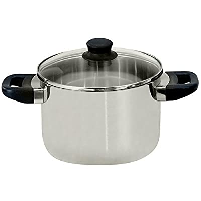 ELO 68224 Juwel De Luxe Stainless Steel 6-Quart Stock Pot with Glass Lid, Induction Ready