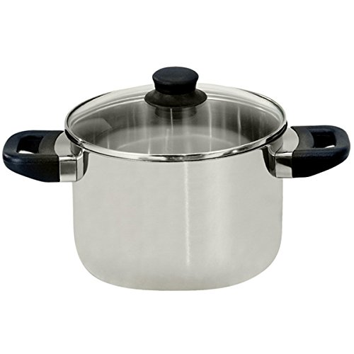 ELO 68220 Juwel De Luxe Stainless Steel 3.5-Quart Stock Pot with Glass Lid, Induction Ready