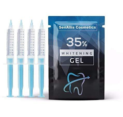 Four 10mL Syringes SenAllis Cosmetics Teeth Whitening Gel, 40mL 35% Gel