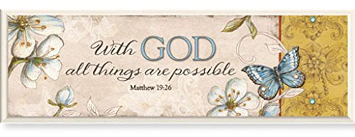 CB Gift Simple harmony Plaque, with God, Matthew 19:26