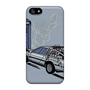 YAf2802eNKQ Phone Cases With Fashionable Look For Iphone 5/5s - Tardis Back To The Future Doctor Who Crossovers