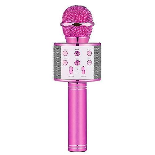 DEDY Kids Microphone, Fun Toys for 5-12 Year Old Girls Boys Wireless Portable Karaoke Microphone for Kids Cool Mic Birthday Gifts for 5-12 Year Old Girls Boys (Purple) DDMKF03 by DEDY (Image #1)