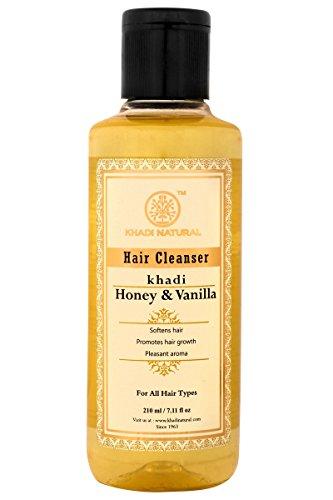 Khadi Natural Hair Cleanser Honey and Vanilla for Healthy, Shiny, and Silky Hair (210 ml)
