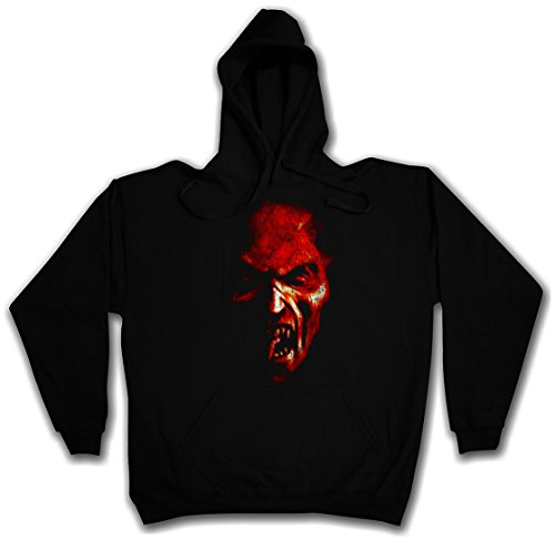 Demon Head Hoodie – Satan Hell satanism Pentagram Druid Horror Pentacle Church by Urban Backwoods