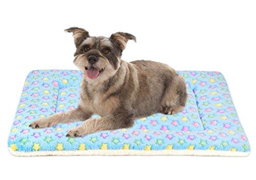 Mora Pets Ultra Soft Pet (Dog/Cat) Bed Mat Cute Prints   Reversible Fleece Dog Crate Kennel Pad   Machine Washable Pet Bed Liner (24-inch, Blue)