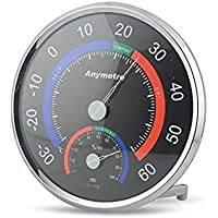 Anymetre Termometre ve Nem Ölçer Comfortable Meter Siyah