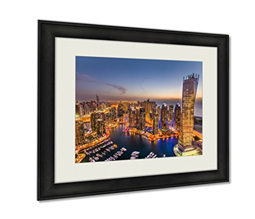Ashley Framed Prints, The Beauty Of Dubai Marina Just From The Top, Black, 20x25 Art