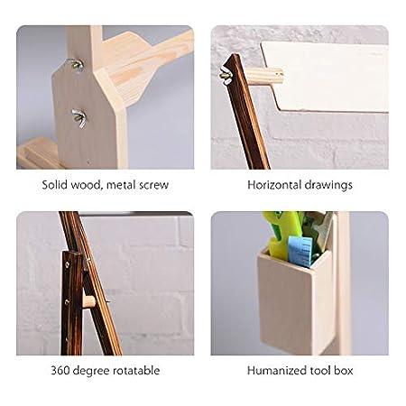 MOCOHANA Wooden Cross Stitch Rack Tapestry Scroll Frame Embroidery Hoop Holder High Adjustable Craft Stand Natural Color