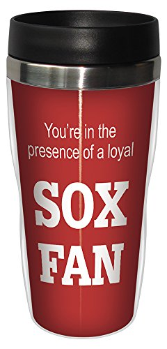 - Tree-Free Greetings sg24080 Sox Baseball Fan Sip 'N Go Stainless Steel Lined Travel Tumbler, 16-Ounce