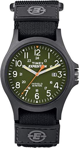 Timex Expedition - Homme - TW4B00100 - Quartz - Analogique - Eclairage - Vert - Noir - Nylon
