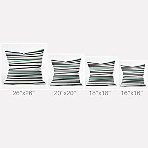 DENY Designs Khristian A Howell Crew Stripe Cool Outdoor Throw Pillow, 20 x 20