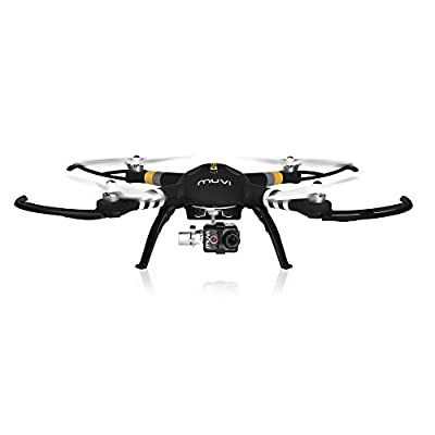 Veho Muvi Q-Series Q-1 Professional Aerial UAV Quadcopter Drone with Advanced 3-Axis Gimbal, Black (VQD-002-Q1) from Veho
