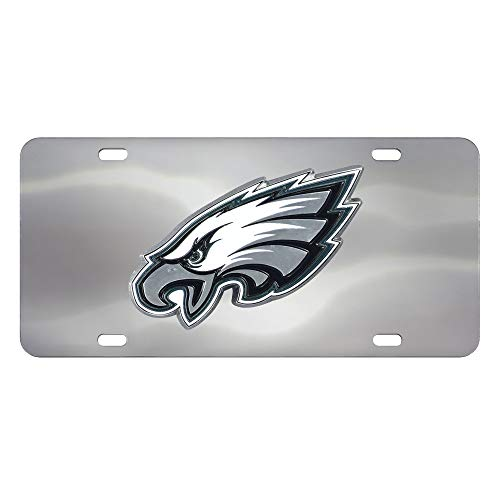 (Fanmats NFL Philadelphia Eagles Die Cast License Platedie Cast License Plate, Chrome, 6
