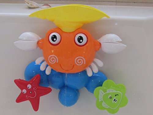 Bath Toy animal- Crab, Safe and Fun, unique design makes the movement unexpected and making bath time lots of fun in a way that babies, Toddlers and kids have never experienced before!