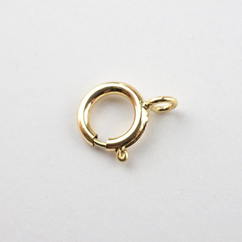 20 - 6mm 14k Gold Filled Spring Clasps With Closed Ring, Made in Italy ()