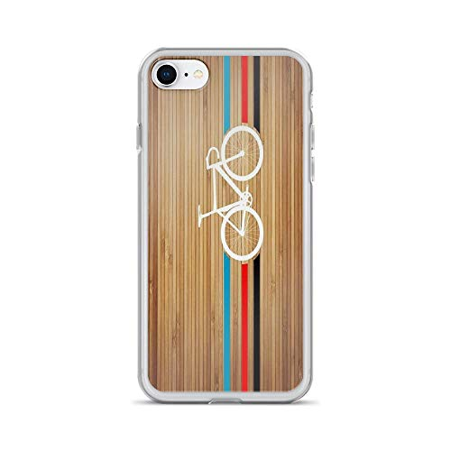 iPhone 7 Case iPhone 8 Case Clear Anti-Scratch Bike Stripes Velodrome, Popular Cover Phone Cases for iPhone 7/iPhone 8, Crystal Clear