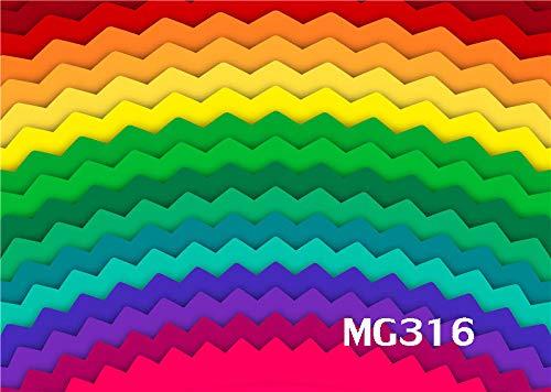フィジェットフィジェットバックグラウンド フォトスタジオ小道具 レインボー 5X3フィート ビニール写真背景 MG316   B07HG8BWQN