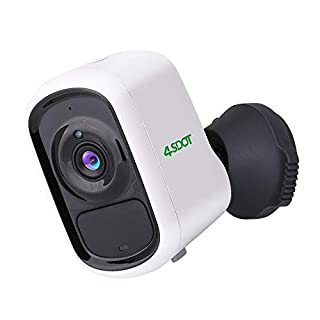 Wireless Battery Camera 4SDOT 1080P Rechargeable Battery Indoor/Outdoor Security Camera, WiFi Camera AI Motion Detection,Two Way Audio,Night Vision,One-Year Free Cloud Storage