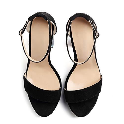 Tacones Impermeable 41 Tacón Zapatos Boda black Vendaje Cena Impresión Alto Pfmy De Altos Sra dg Sandalias Plataforma Moda 10wTcvpAq