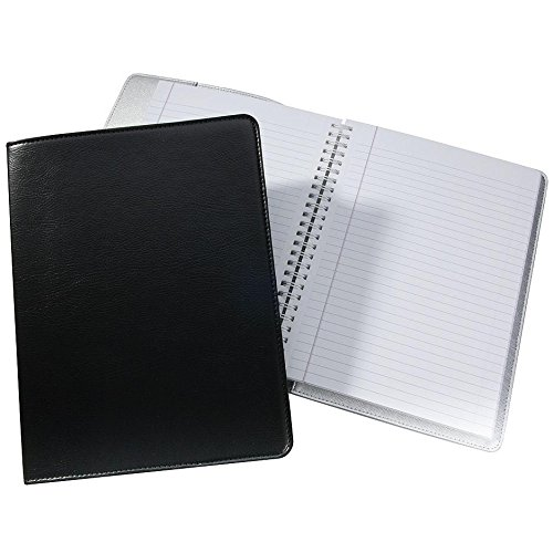 Wire-O-Notebook 9-inch Black Eco-Leather by Graphic Image™ - 7x9 by Graphic Image