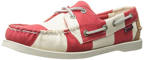 Barca Red Spinnaker Striped Scarpe Sebago NBK White FGL da nqf6qFUW
