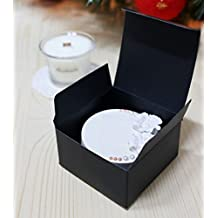 Wrap Boxes for Home Made Soap Bar, Bath Bomb, Candle Tarts Black Favor Boxes (Gift Boxes no.3)