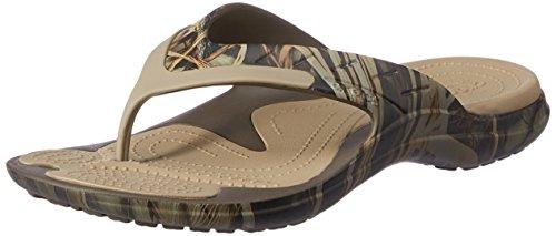 Crocs Unisex MODI Sport Realtree Max 4 Flip-Flop, Chocolate/Khaki, 9 M (D) US Men / 11 M (B) US Women