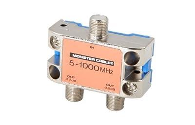 Monster Standard RF Splitters For CATV Signals MKII - 2 Way RF Splitter