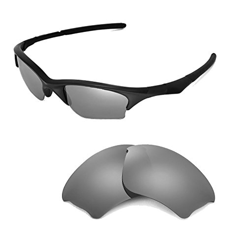 Walleva Polarized Titanium Replacement Lenses for Oakley Half Jacket XLJ Sunglasses by Walleva
