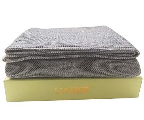 (LVFEIER RFID Shielding/Radiation Blocking/EMF Protective Belly Pregnancy Blanket 33.5X 43.3 Inches (Grey))