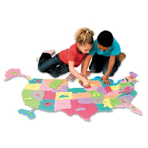 (Creativity Street - Wonderfoam Giant U.S.A Puzzle Map, 73 Pieces - Sold As 1 Pack - Make geography fun for kids!)