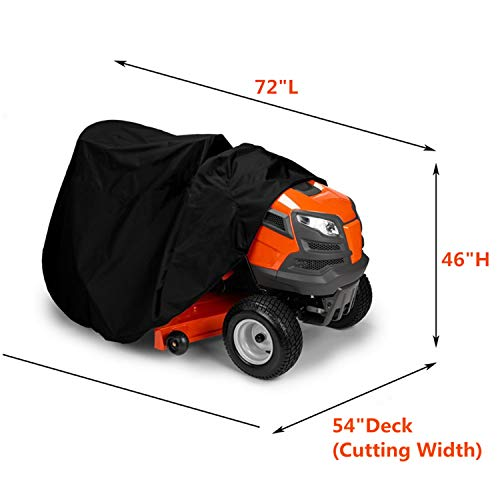 EPCOVER Garden Tractor Cover/Lawn Mower Cover - Fits Decks up to 54in Storage Cover Heavy Duty 210D Polyester Oxford with Drawstring & Cover Storage Bag