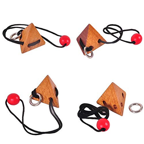 lightclub 3D Rope String Wood Topology Adults Kids Brain Teaser Puzzle Educational Toys 1 -