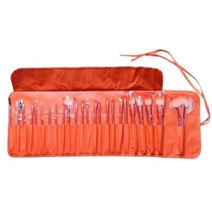 MakeupAcc® Makeup Brushes Set Tools Pro Foundation Eyeshadow Eyeliner Superior Soft (Orange)