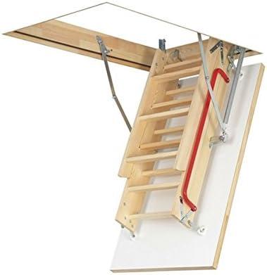 Optistep Ole madera madera Escalera para desván y trampilla ...