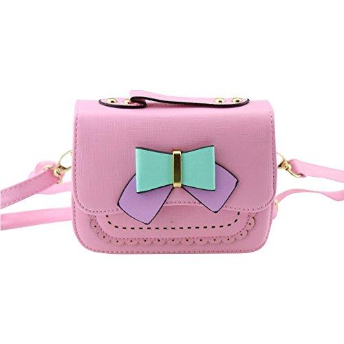 Dodocat Super Cute 3D Design Small Pink Bowknot Messenger Bag Kids Shoulder Bag Crossbody Handbag