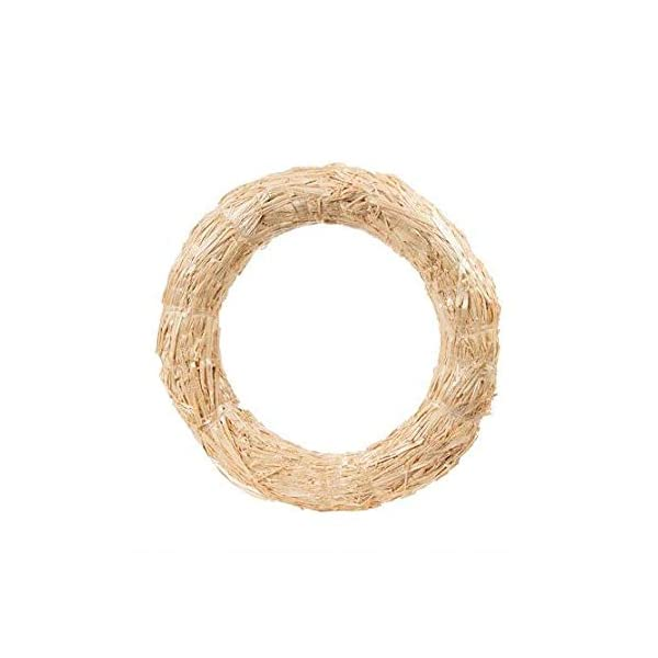 Floral Home Natural Straw Wreath Fall Decoration – 16″ Wide – Set of 3