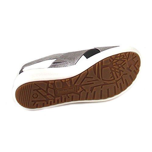 Timberland Sandalo Delle Signore Di Los Angeles Del Vento Slingback Sandalo Argento